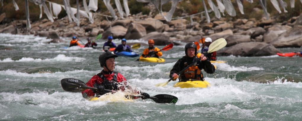 kayaking in tibet